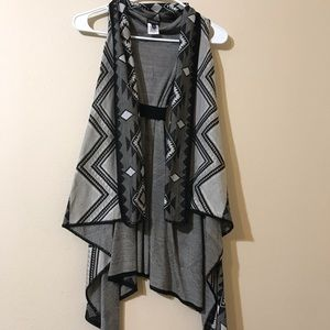 NWOT Draped Assymetrical Sweater Vest
